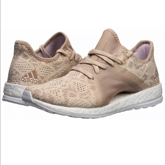 f40782078f7e0 Adidas Womens PureBoost X Element Ash Pearl Shoes